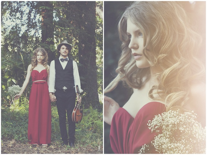 engagement shoot red dress Yuna Leonard