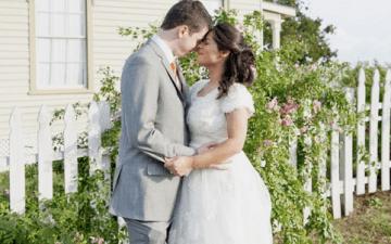 Mint Green, Peach & Orange Rustic Ranch Wedding