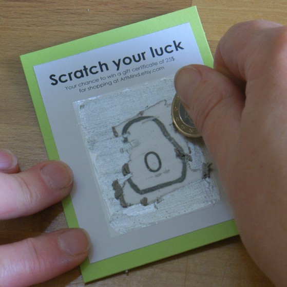 How To Make Scratch Off Cards Tutorial by Art Mind