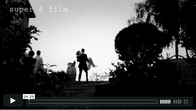 Super 8mm wedding film of rustic wedding in California