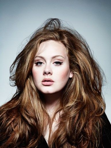 adele touseled hair with volume
