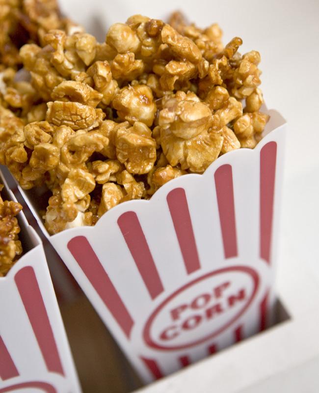 diy caramel popcorn favours