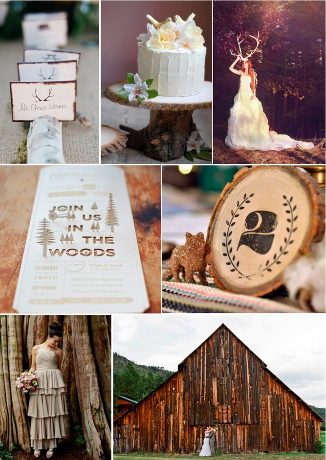 into the woods rustic barn wedding inspiration