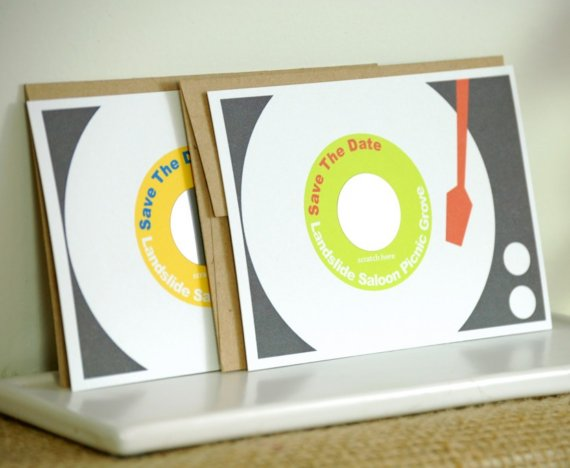 scratch off save the date record player