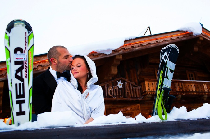 ski wedding Austria