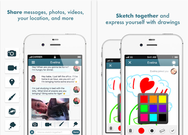 Pair - iphone messaging app for couples