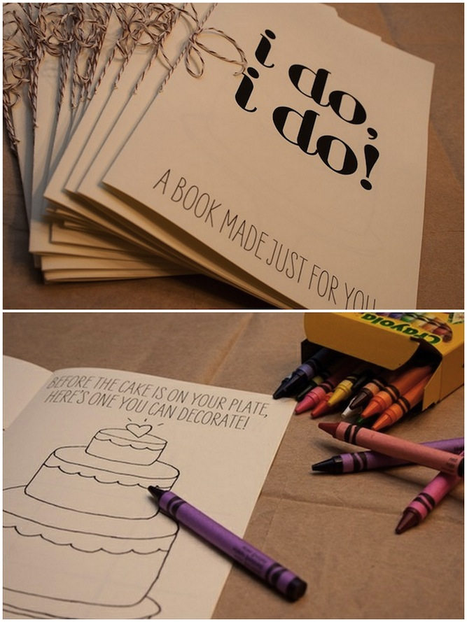 free printable activity book for children at weddings
