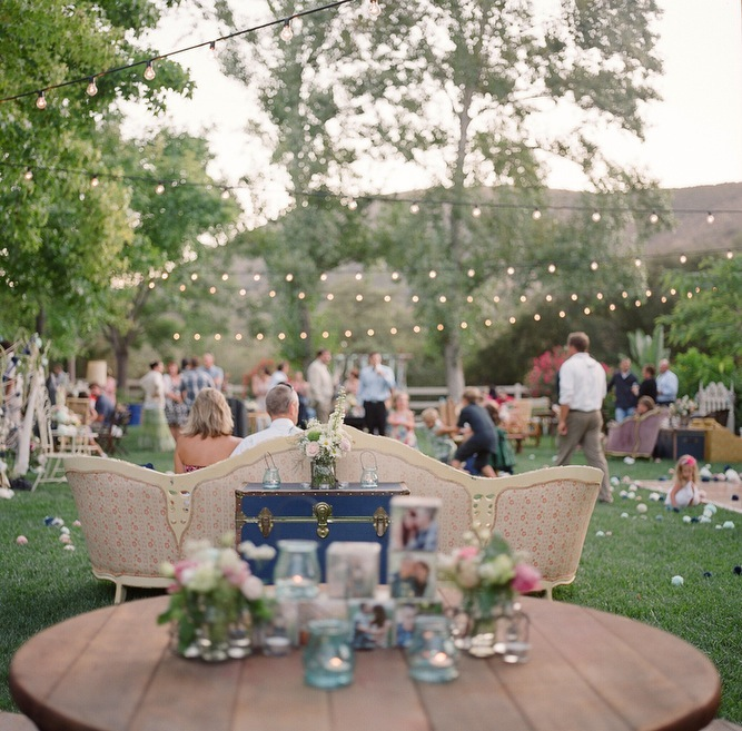 Vintage Backyard Party Ideas : Creative And Unique DIY Wedding Filled With Pom Poms Part 2