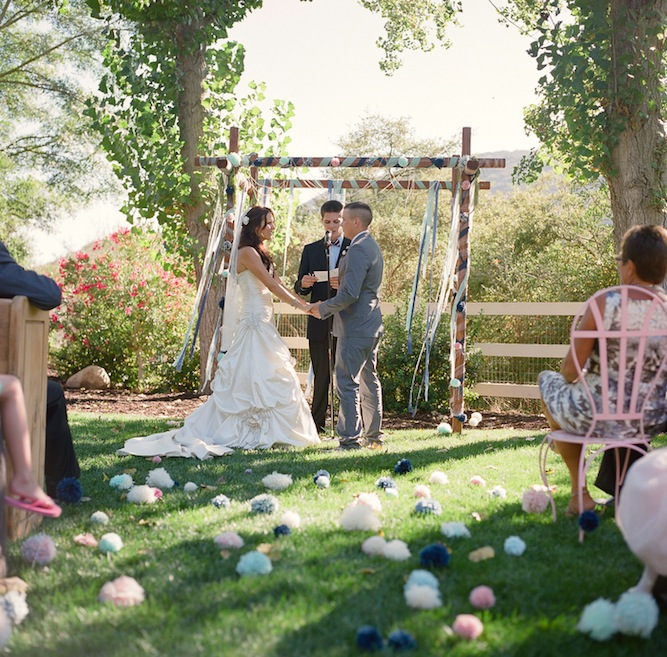 DIY Pastel Pom Pom Wedding10