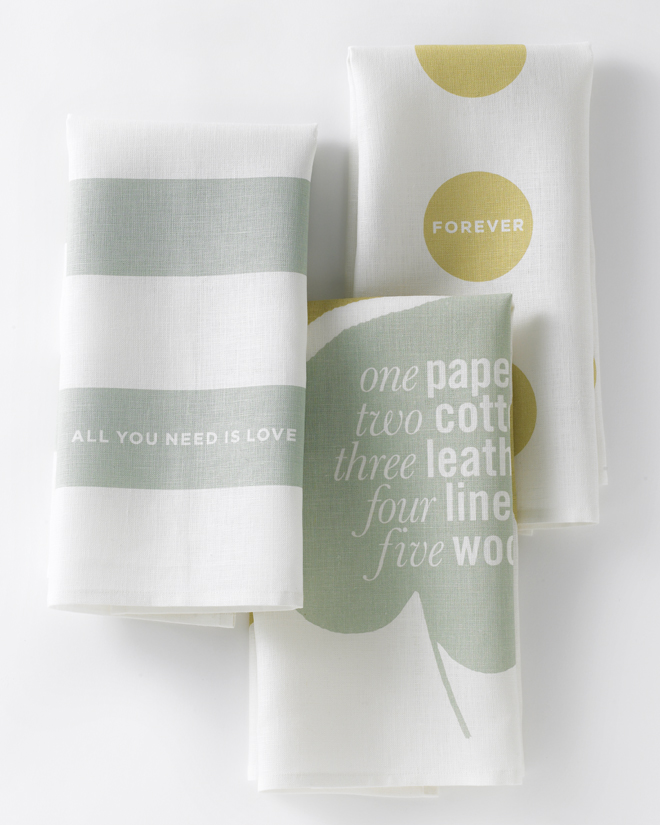 Love Set Tea Towel Studiopatro folded