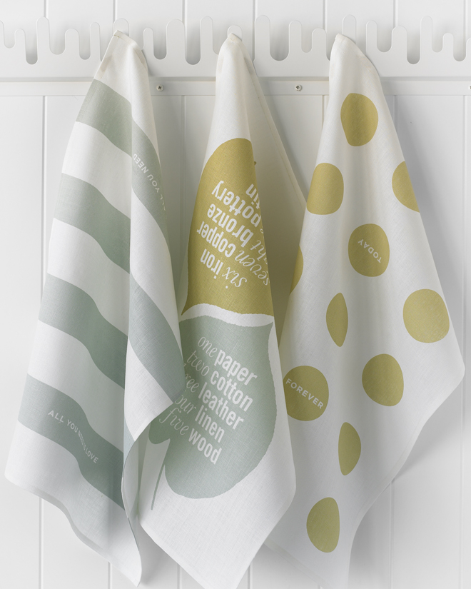 Love Set Tea Towel Studiopatro hanging