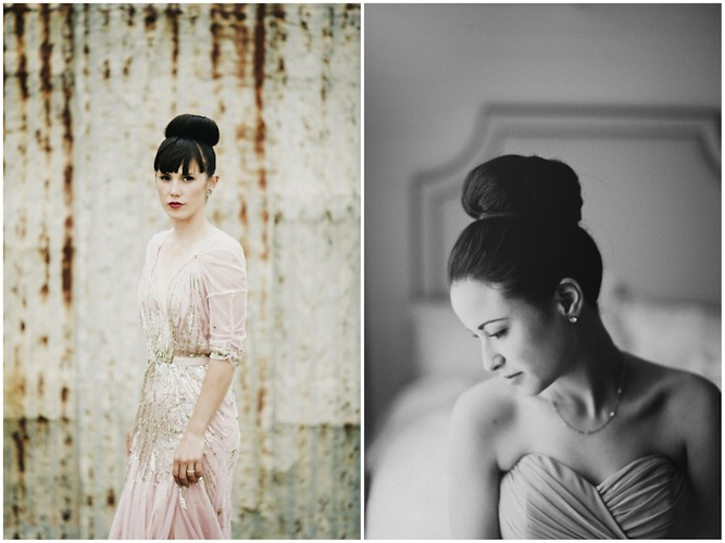 bridal ballerina bun hairstyle