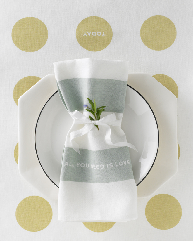 Love Set Tea Towel Studiopatro Place setting