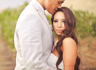 A Glamourous White, Grey & Mixed Metallics Vineyard Wedding 2