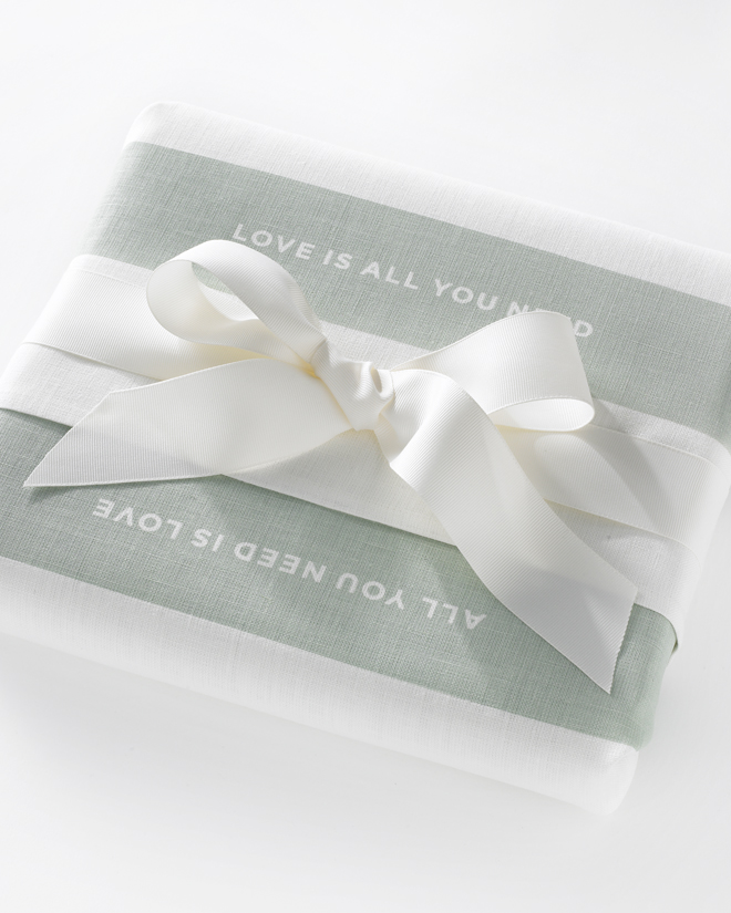 Love Set Tea Towel Studiopatro Wrapped Present