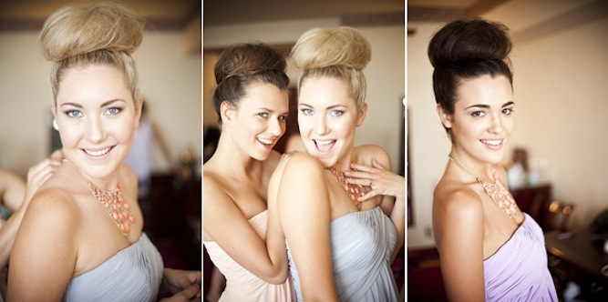 bridesmaids with ballerina buns
