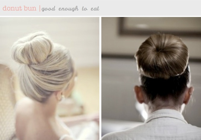 donut ballerina bun DIY hair tutorial
