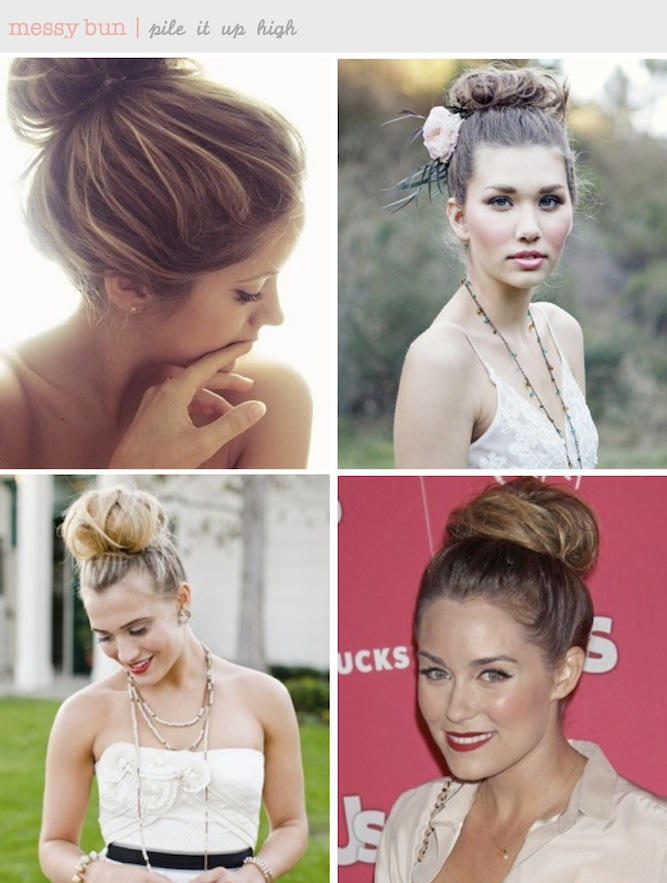 messy ballerina bun DIY tutorial