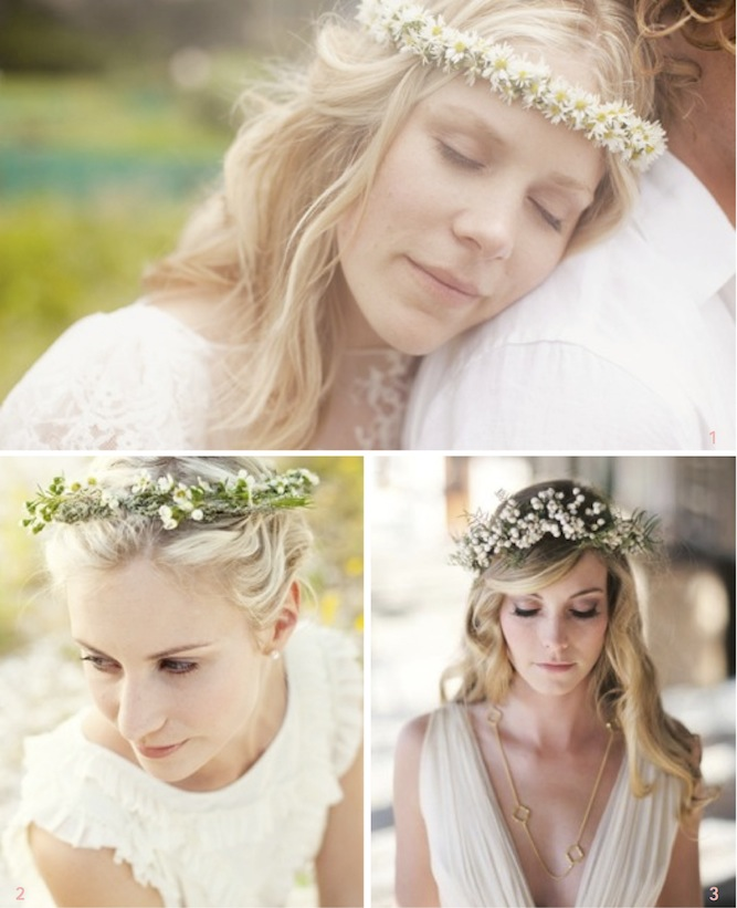 halo of flowers for wedding