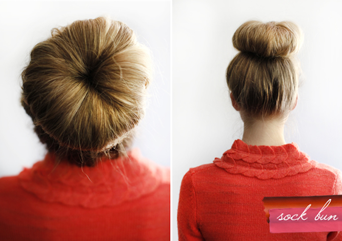 sock bun tutorial wedding chicks