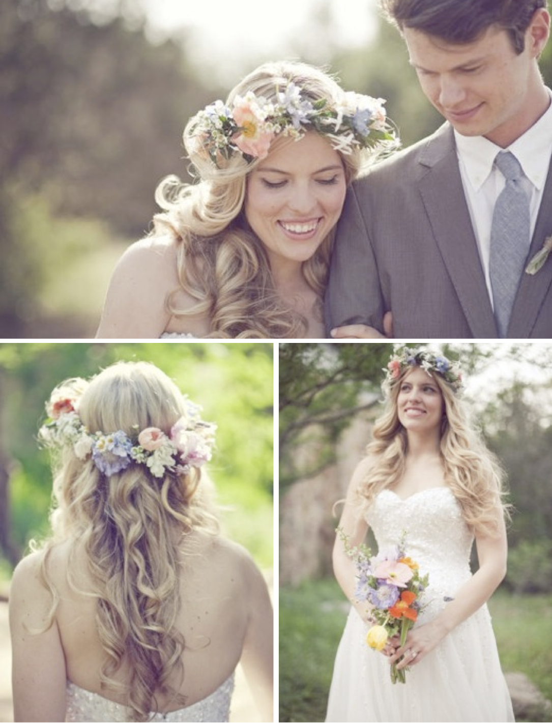 spring time floral crown