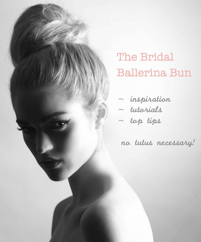 the bridal ballerina bun DIY tutorials