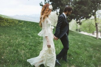 Bohemian Romance In The Woods Amidst The Wisteria