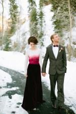 Magical Winter Wedding Shoot: Roses, Snow & Red Velvet