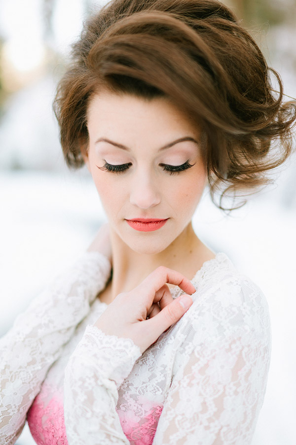 beautiful bridal hair and make up