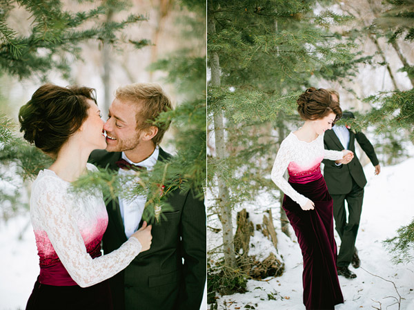 magical unique styled shoot in the snow
