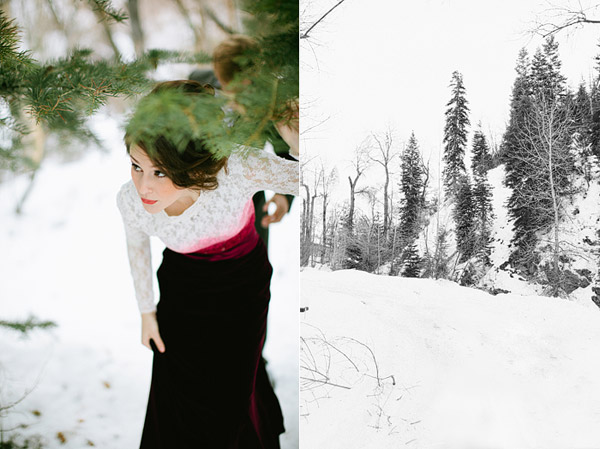 Narnia winter wedding shoot