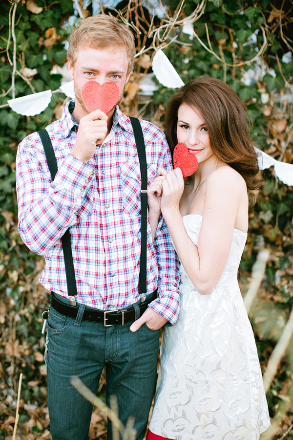 valentine's day proposal shoot, red hearts