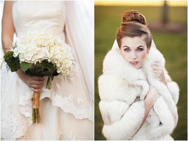 Classic elegant winter wedding amp a ballerina bun for the bride