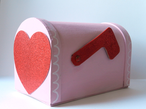 paper mache mailbox DIY