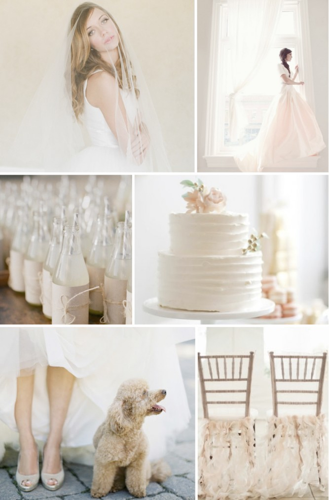 Palest Pink and Neutral Wedding Inspiration Board