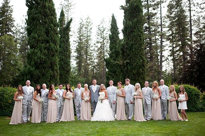 Blush Wedding Dress Grey Bridesmaids : Romantic diy fairytale wedding blush pink ruffles lace