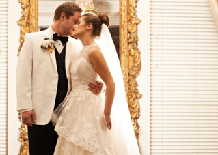 Classic, Elegant Winter Wedding & A Ballerina Bun For The Bride