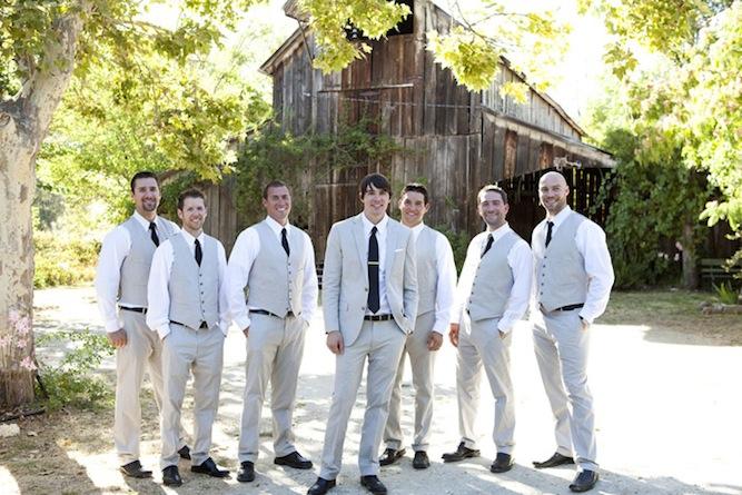 Wedding Suit Ideas For Groomsmen : Sweet Vintage Farmhouse Wedding In California