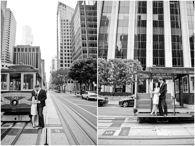 San Francisco Engagement Shoot Tram