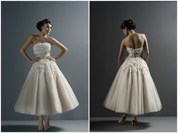 short Justin Alexander wedding dress 8465