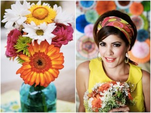 Vibrant, Colourful 1960s Mod Style Palm Springs Elopement Shoot