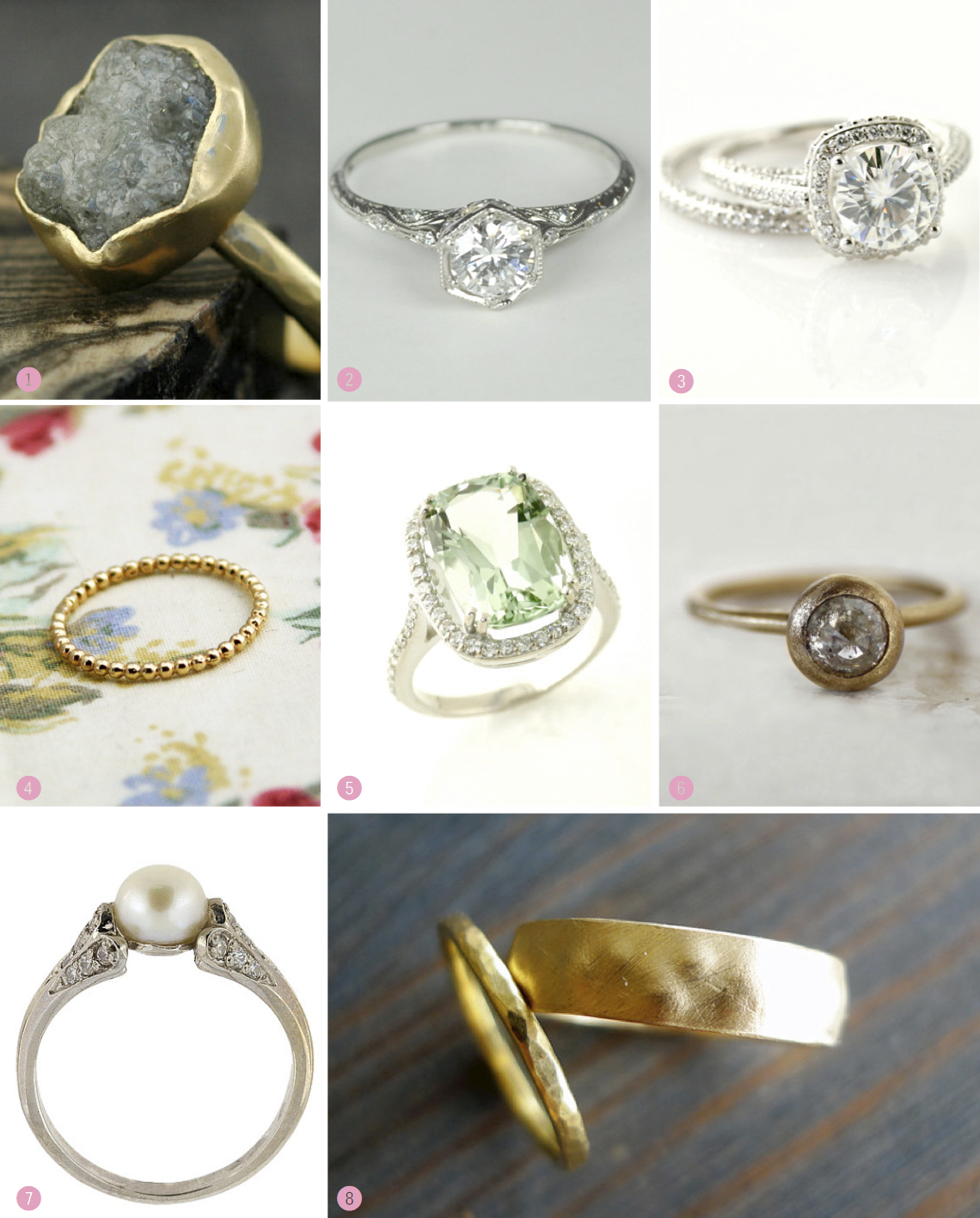 Etsy Engagement And Wedding Ring Inspiration