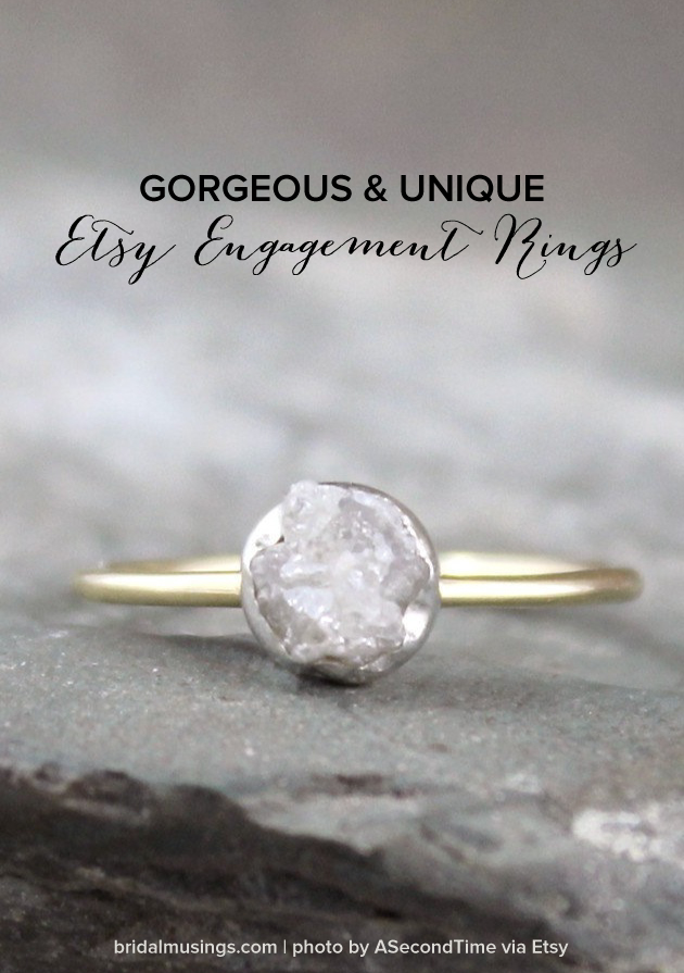 Gorgeous & Unique Etsy Engagement Rings