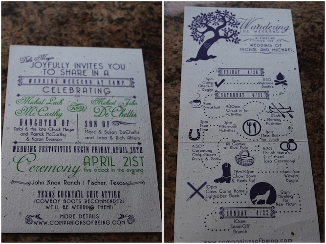 Camping Wedding Invitations: Geeky, Rustic, Summer Camp Wedding In The Woods