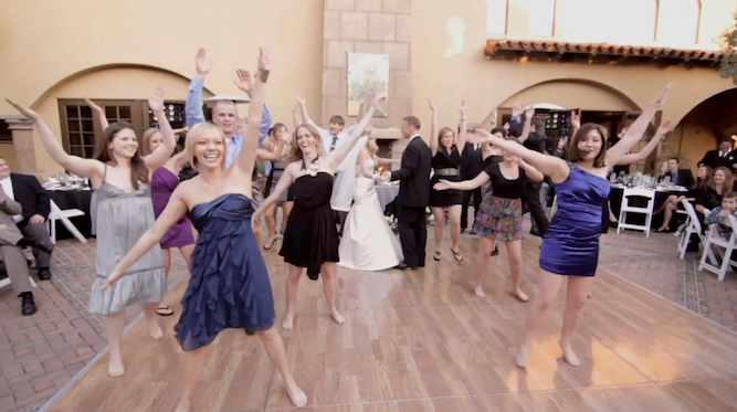 Unique Wedding Film Featuring A Flash Mob First Dance