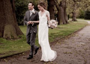 Elegant, Romantic, Rose Filled English Wedding