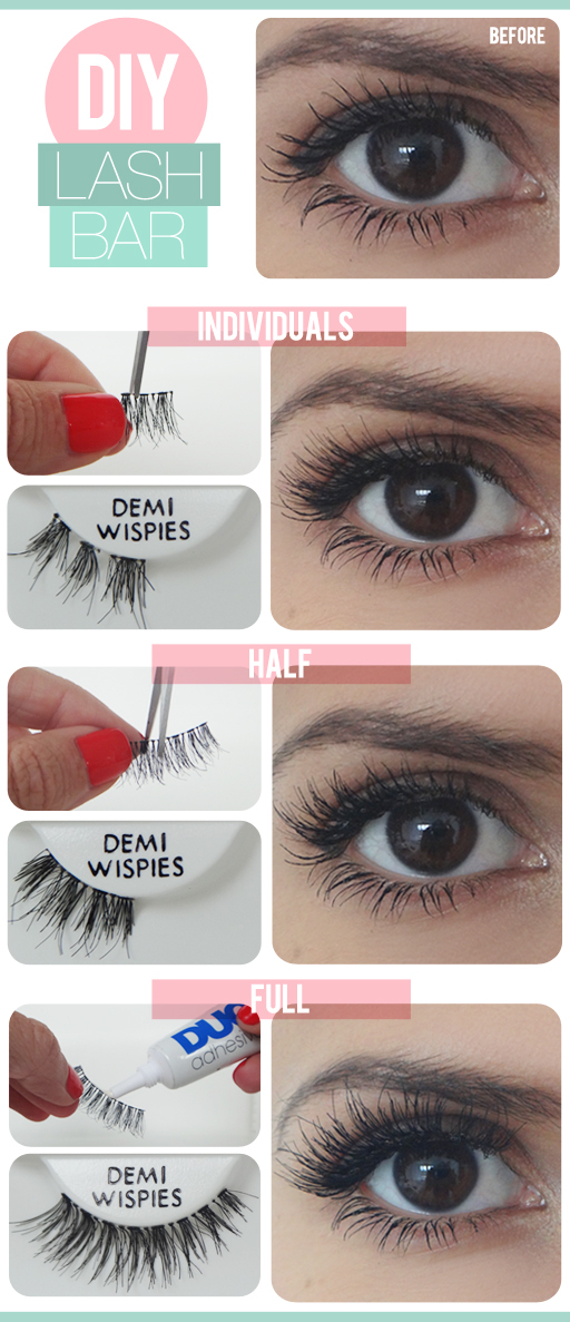 The Beauty Department False Eyelash DIY Tutorial