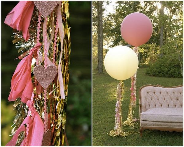 decoración de fiestas con globos gigantes