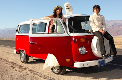 death valley campervan wedding film by Modern 8 Films