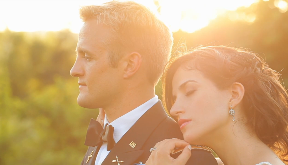 military wedding film by 15 minutes of frame